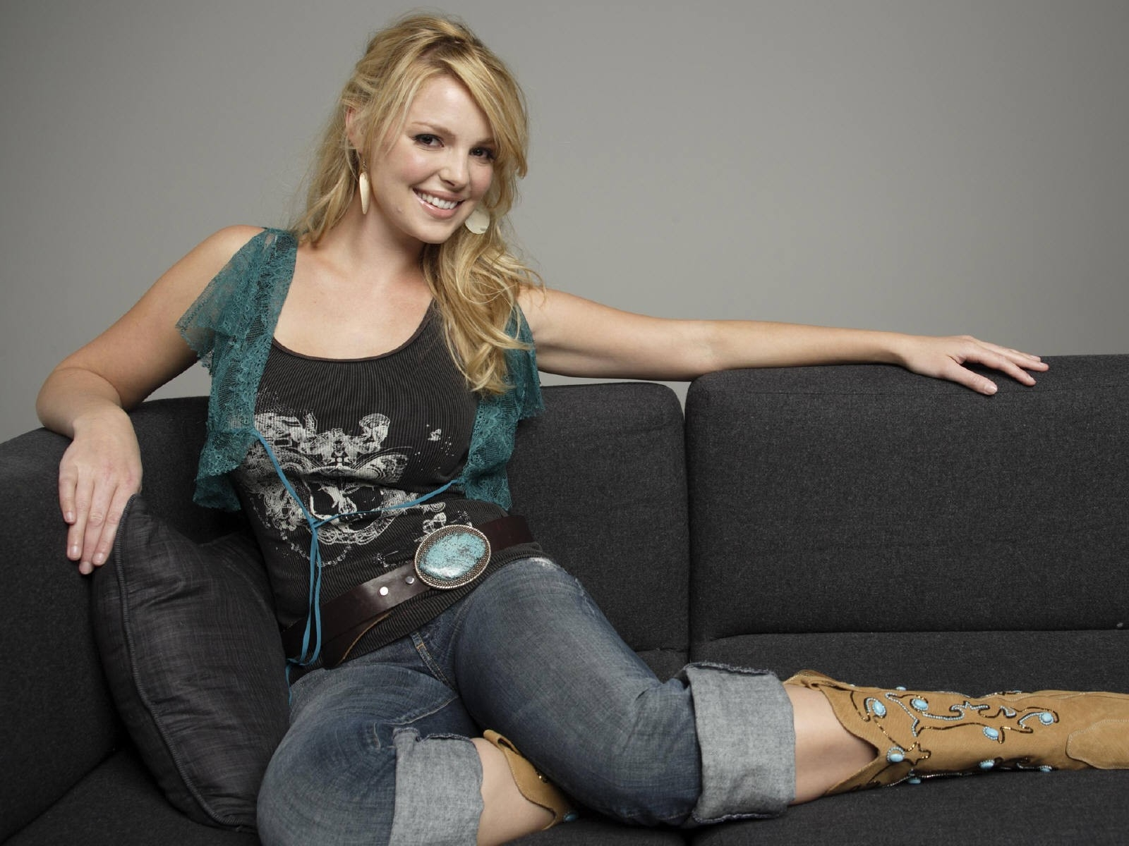 Wallpaper di Katherine Heigl in denim