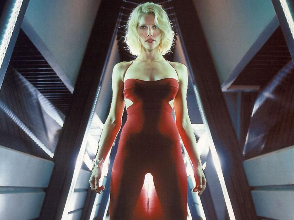 Wallpaper di Tricia Helfer nel serial Battlestar Galactica