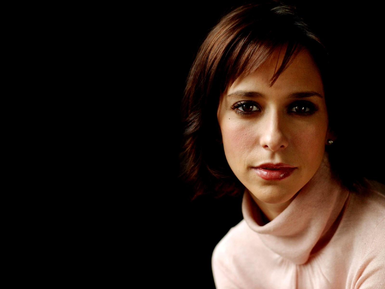 Wallpaper di Jennifer Love Hewitt con maglione a collo alto