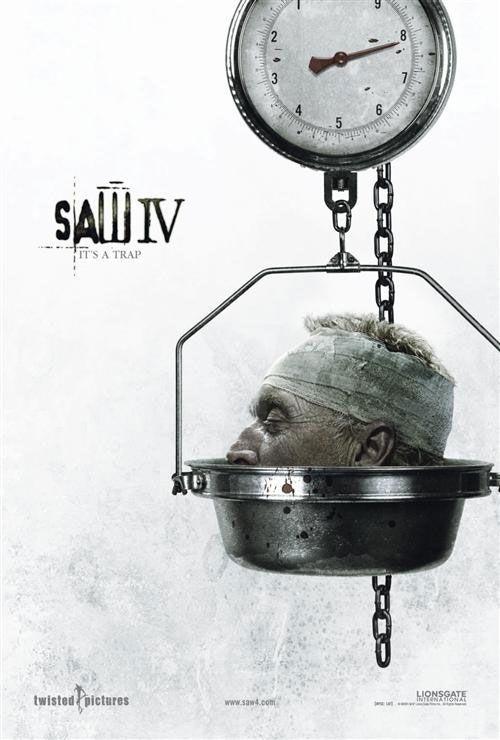 Una delle locandine realizzate per il lancio di Saw 4