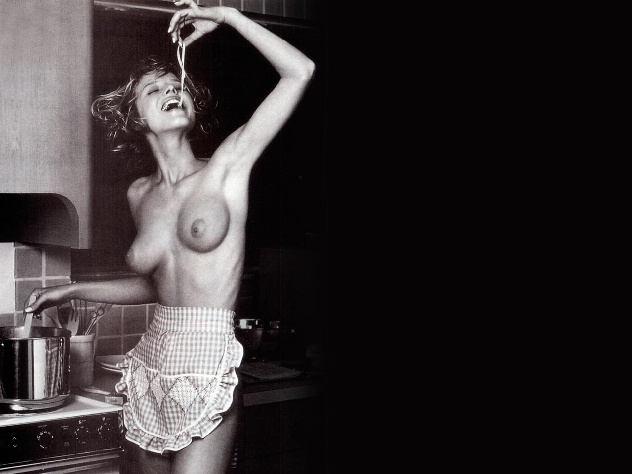 Wallpaper di Eva Herzigova in topless