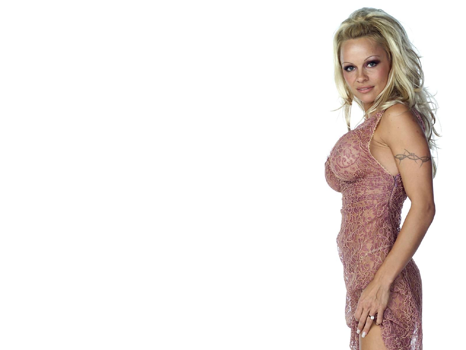 Wallpaper di Pamela Anderson di profilo