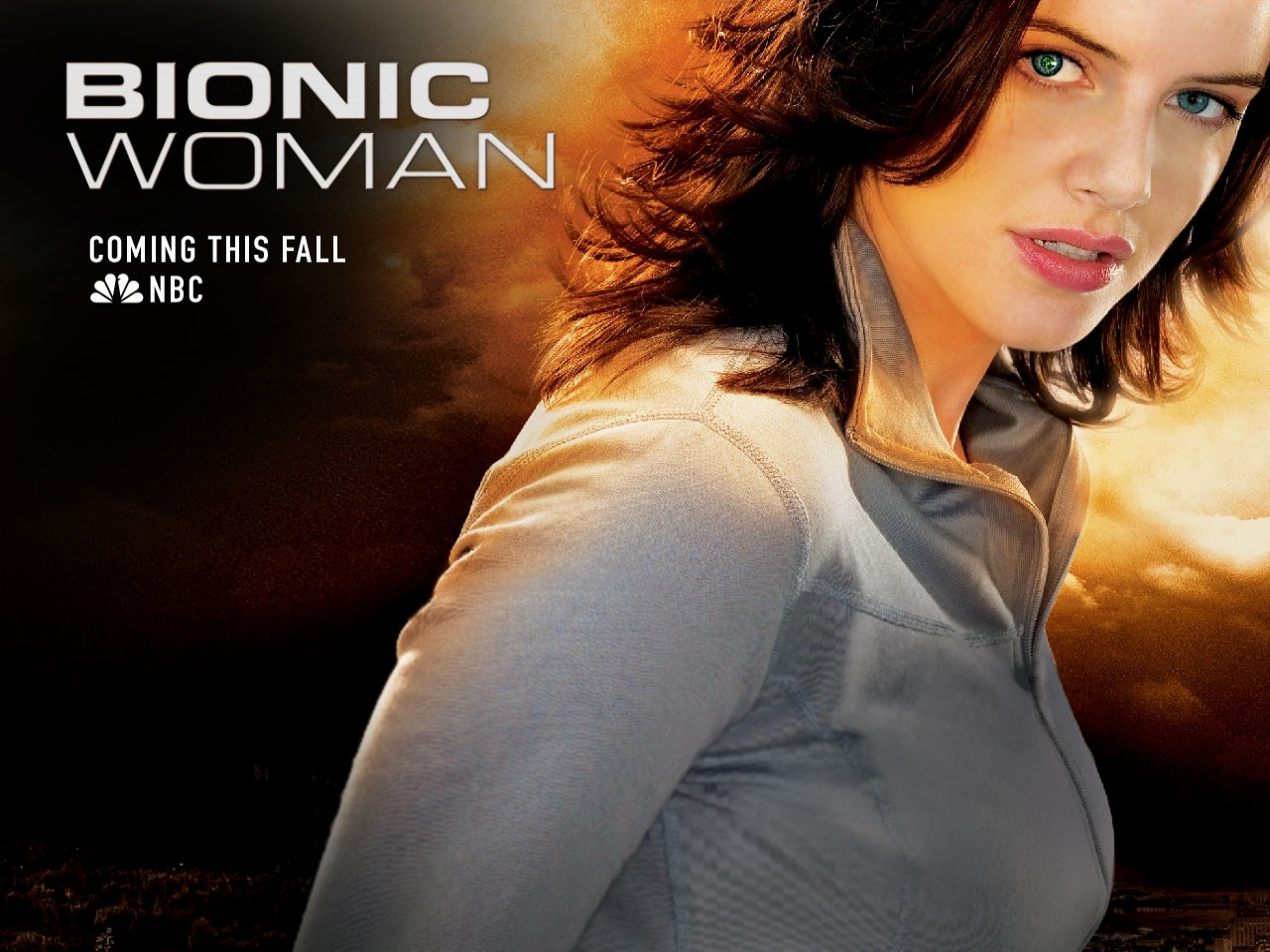 Michelle Ryan in un wallpaper della serie Bionic Woman