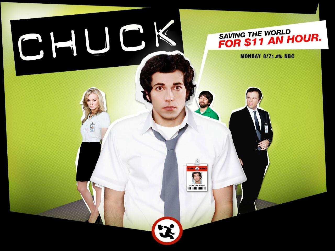 un wallpaper della serie televisiva Chuck