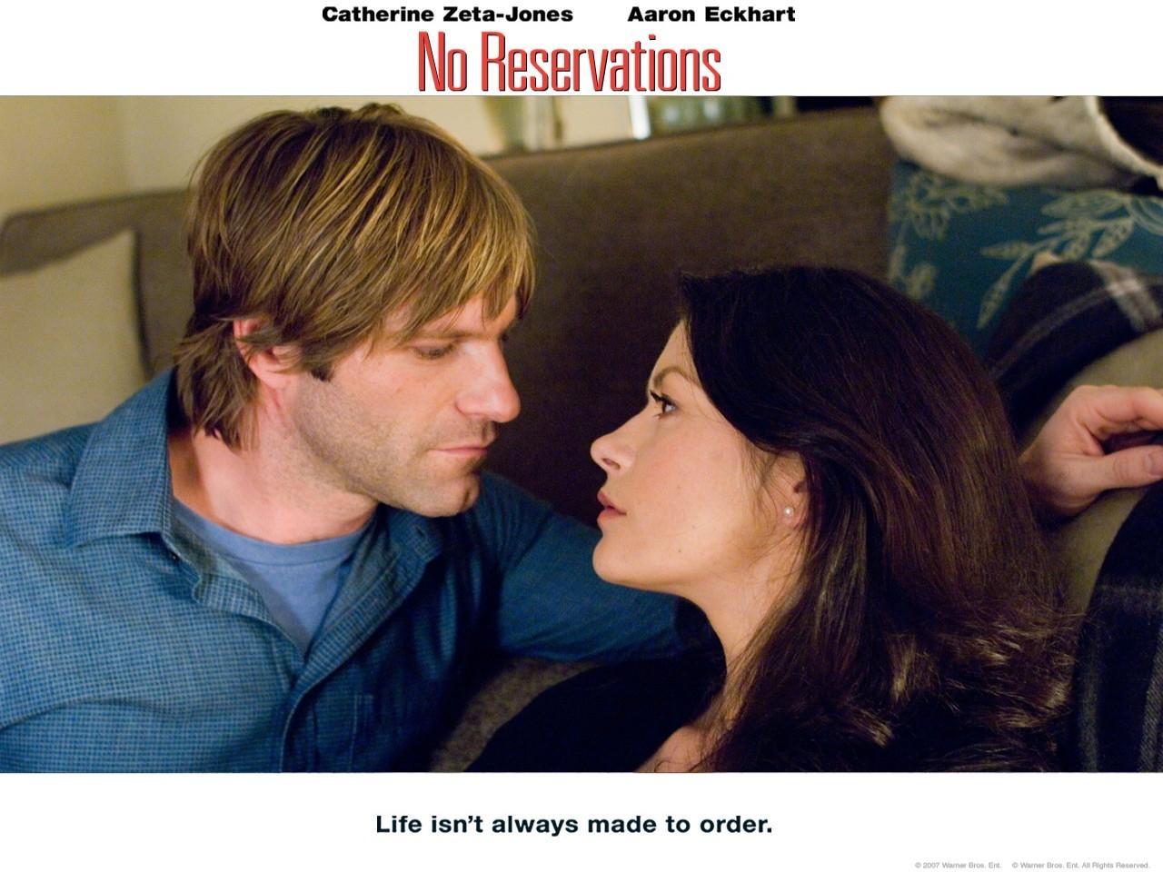Wallpaper del film No Reservations: Aaron Eckhart e Catherine Zeta-Jones