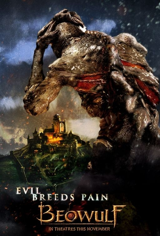 Uno dei poster realizzati per il film fantasy Beowulf