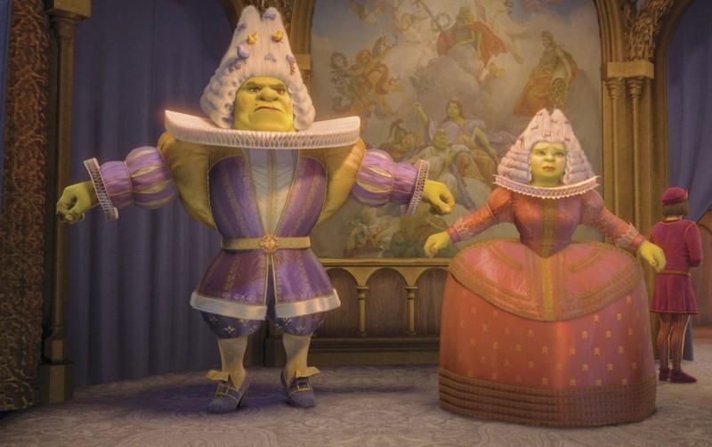 Un'immagine della spassosa fiaba d'animazione Shrek Terzo