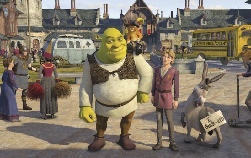 Una sequenza del film Shrek Terzo