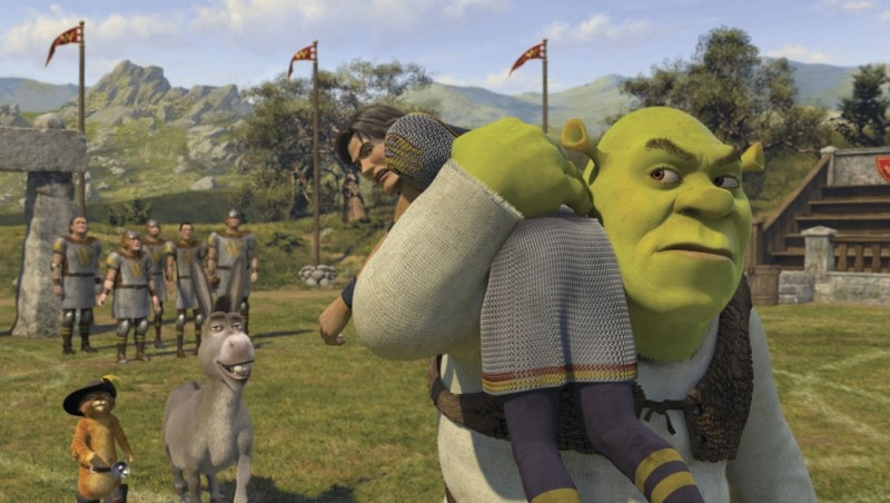 Una divertente scena del film Shrek Terzo