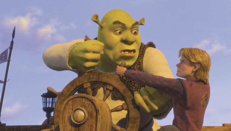 Un'immagine del film Shrek Terzo, prosieguo della popolare saga d'animazione