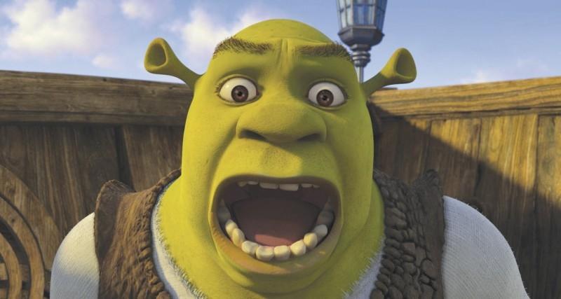 Una spassosa immagine del protagonista del film Shrek Terzo
