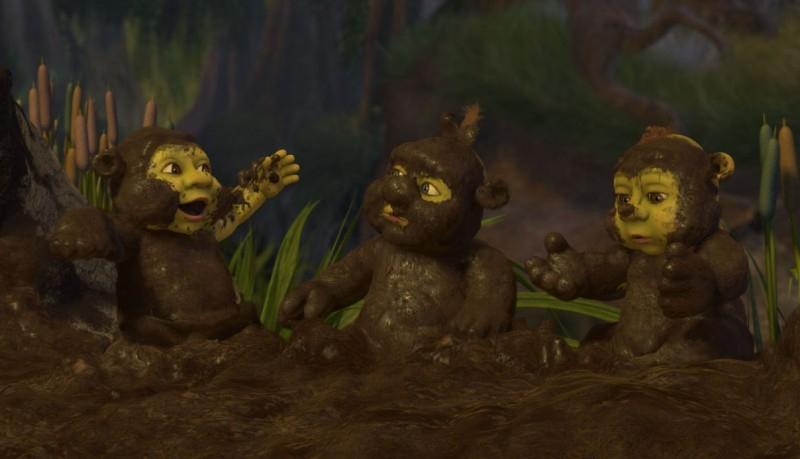 Le 'tre scimmiette' in un'immagine del film Shrek Terzo