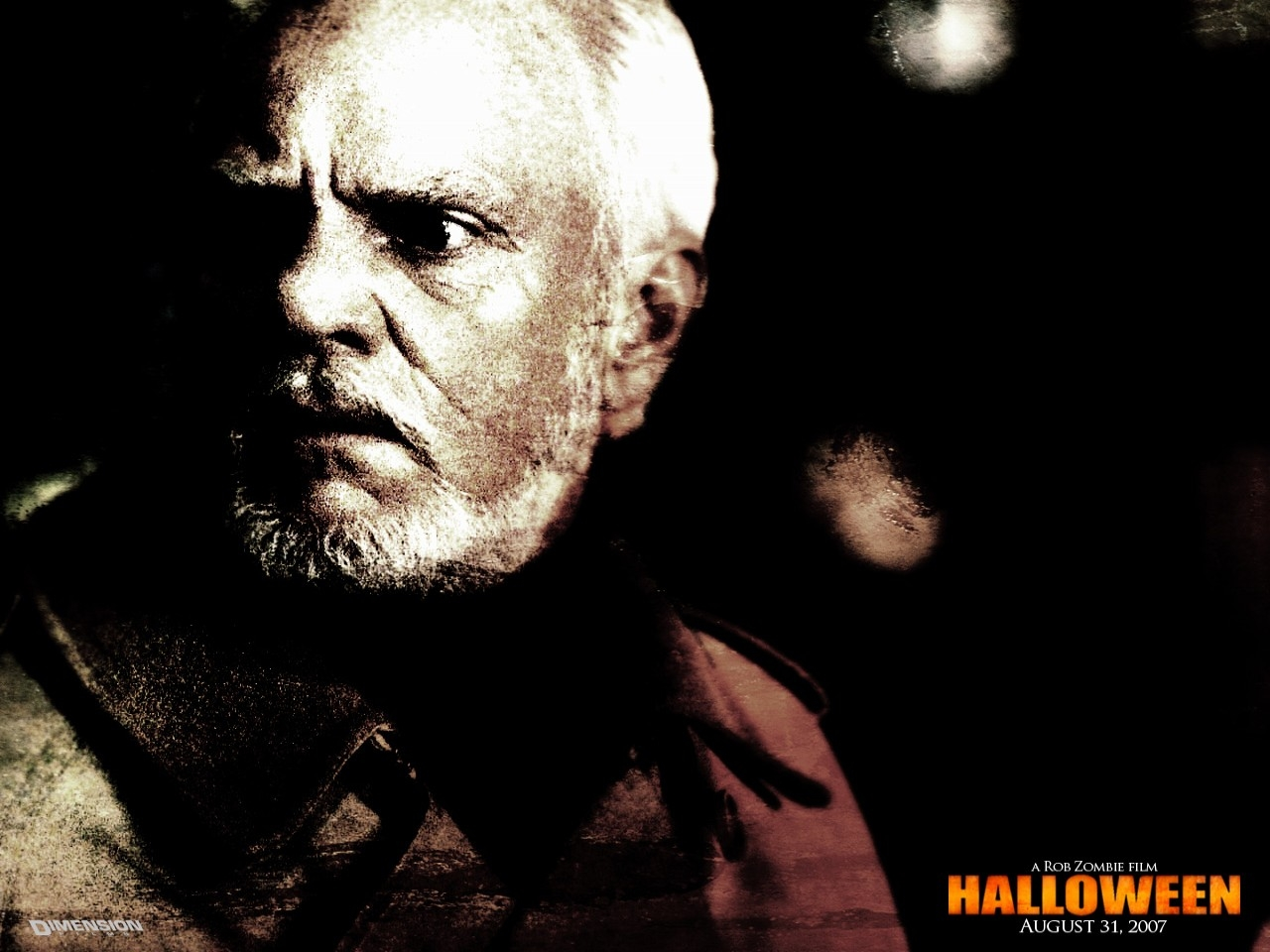 Wallpaper di Malcolm McDowell nel film Halloween: The beginning
