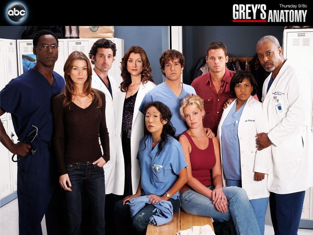 Desktop Wallpaper con il cast della serie Grey's Anatomy
