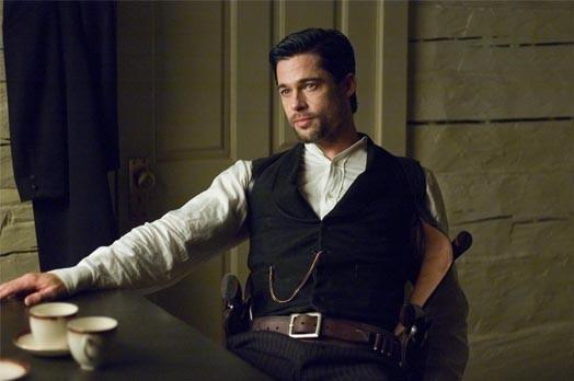 Brad Pitt in una scena de L'assassinio di Jesse James