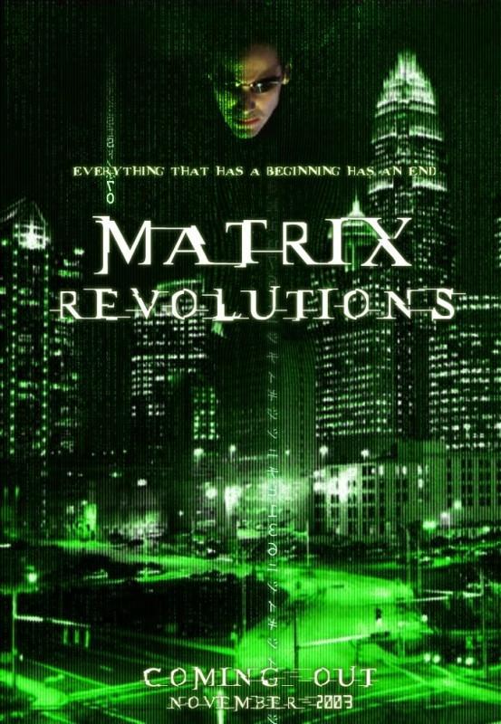 Uno dei manifesti promo di MATRIX REVOLUTIONS