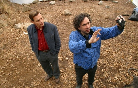 Ewan McGregor e Tim Burton sul set di BIG FISH