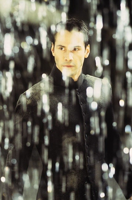Keanu Reeves in una sequenza di MATRIX REVOLUTIONS