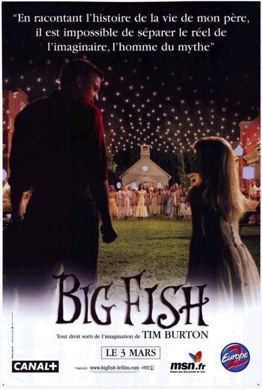 La locandina francese di BIG FISH