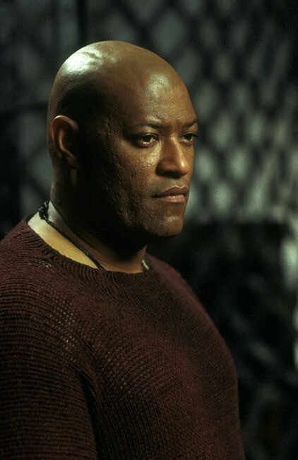 Fishburne in una scena di MATRIX REVOLUTIONS