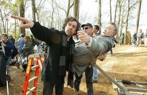 Tim Burton e Albert Finney sul set di BIG FISH