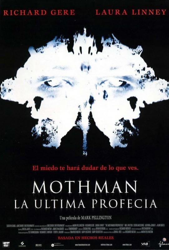 La locandina spagnola di THE MOTHMAN PROPHECIES - VOCI DALL'OMBRA
