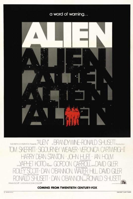 Una delle locandine originali di ALIEN di Ridley Scott