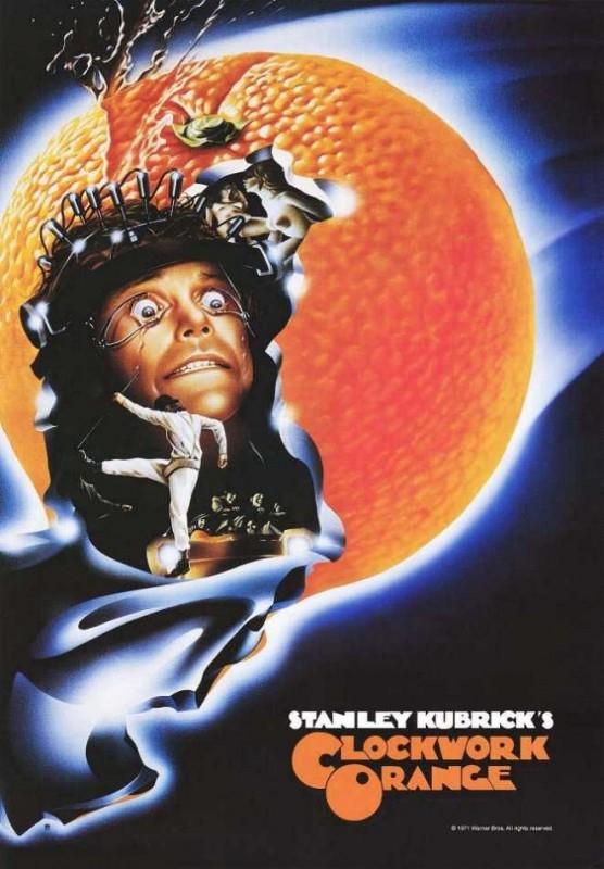 Una delle locandine originali di ARANCIA MECCANICA di Kubrick
