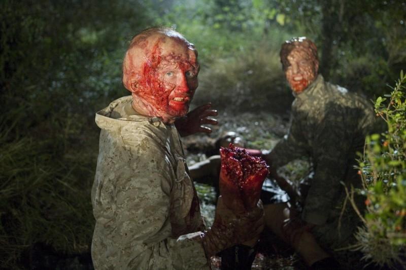 Una scena gore del film del film Planet Terror, episodio del double feature  Grind House
