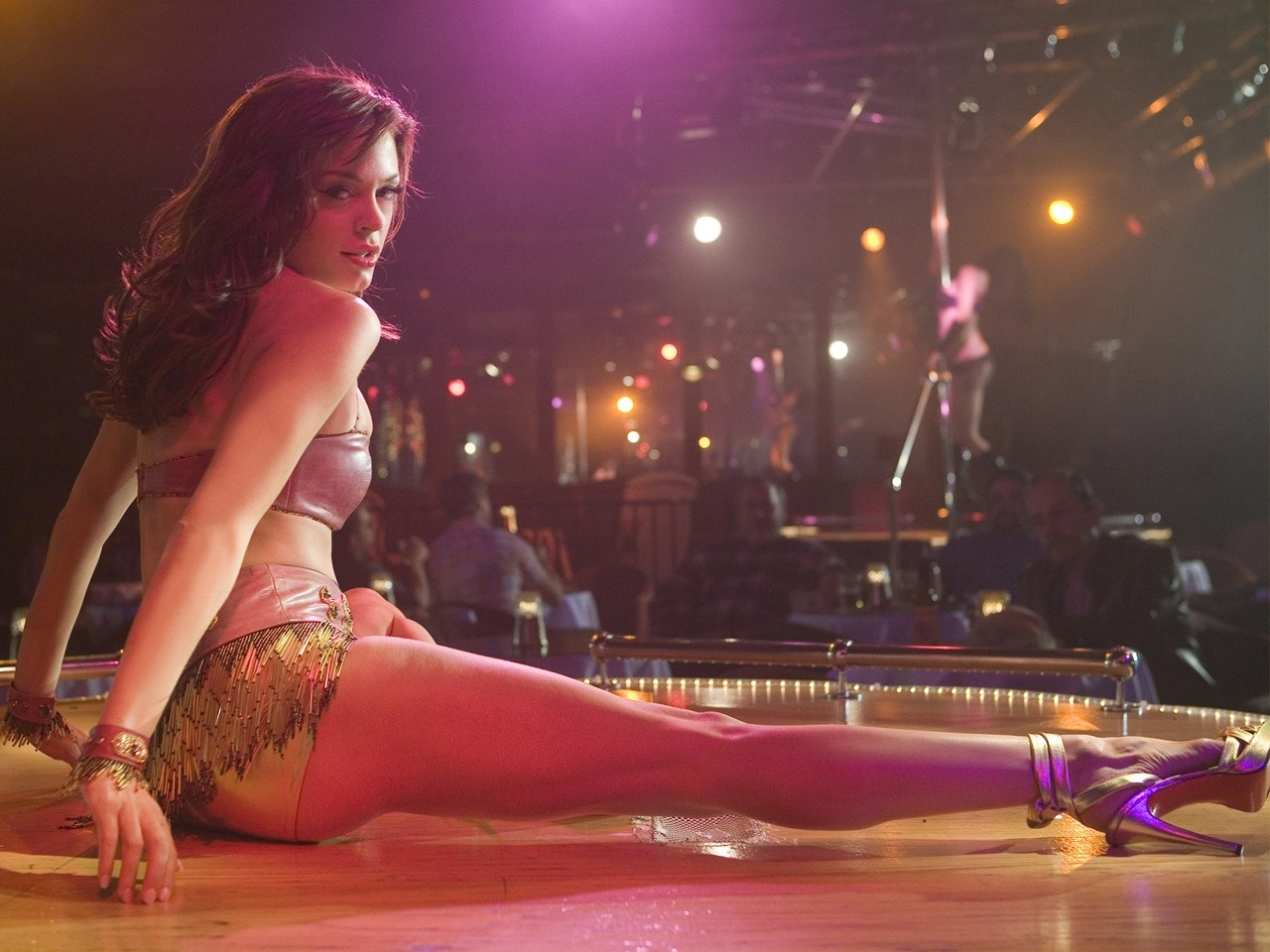 Wallpaper del film Grindhouse con Rose McGowan in versione stripper