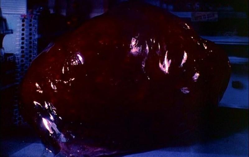 Una scena del classico del genere sci-fi BLOB, FLUIDO MORTALE
