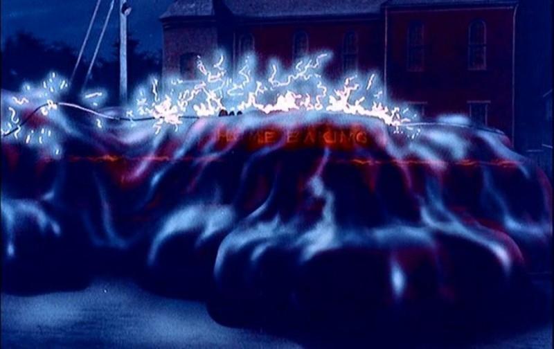 Una sequenza del fanta-horror BLOB, FLUIDO MORTALE