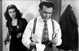 Joan Bennett e Edward G. Robinson in una scena de La donna del ritratto