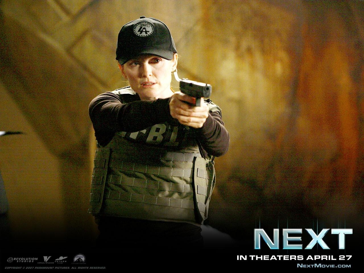 Julianne Moore in un wallpaper del film Next