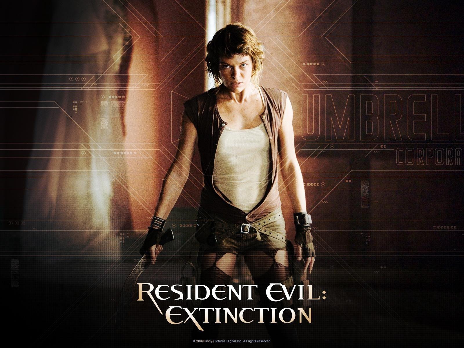 Wallpaper del film Resident Evil: Extinction con la Jovovich