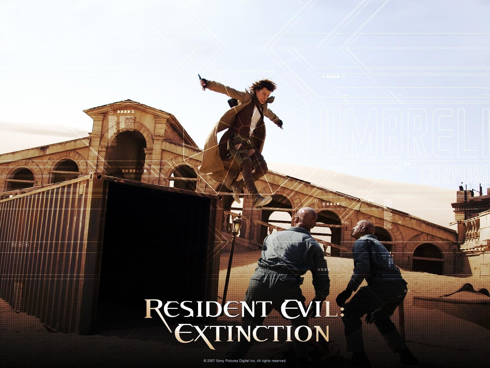 Un wallpaper del film Resident Evil: Extinction