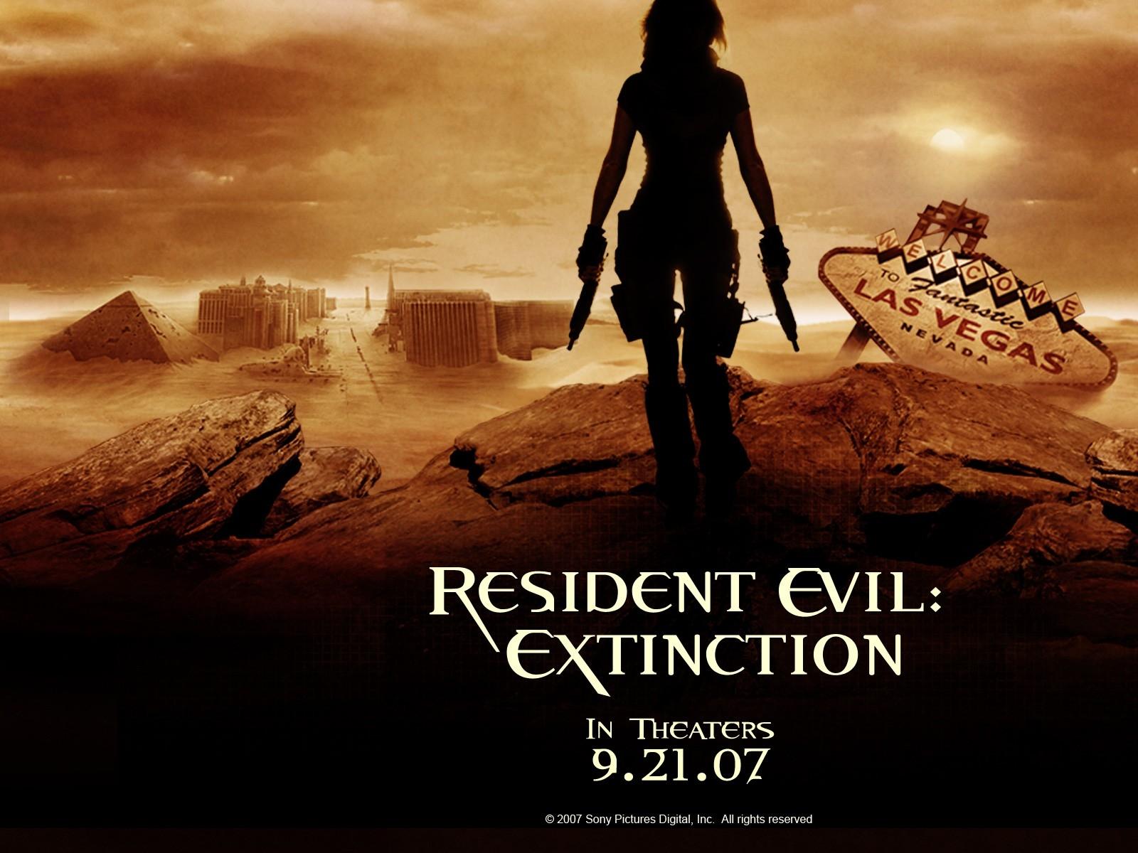 Wallpaper del film Resident Evil: Extinction