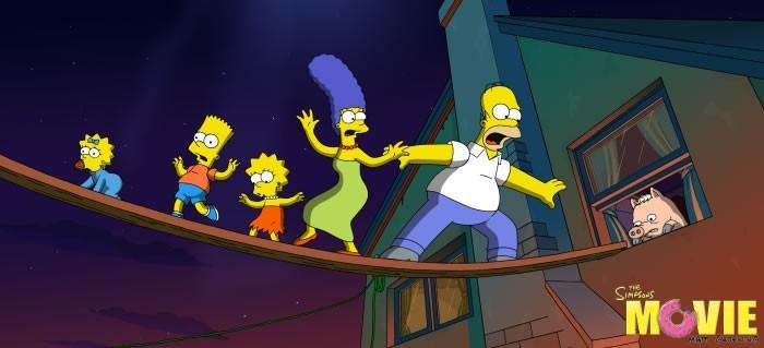 Un'immagine di scena del film de I Simpson
