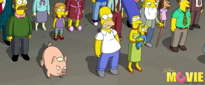 Un'immagine da I Simpson - il film