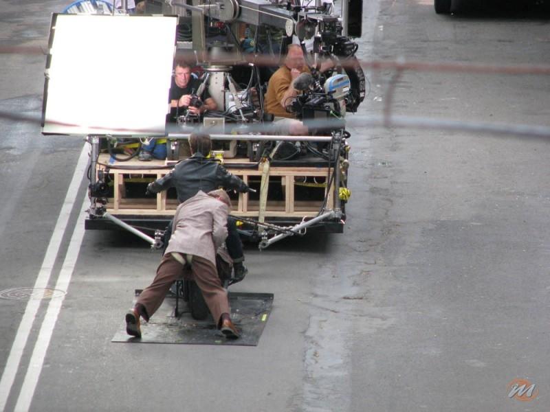 Un'immagine scattata sul set di Indiana Jones 4