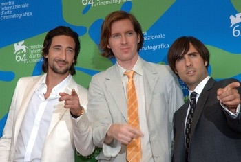 Adrien Brody, Wes Anderson e Jason Schwartzman con The Darjeeling Limited a Venezia 64.