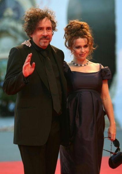 Tim Burton, Leone alla carriera di Venezia 64., sul red carpet con la moglie Helena Bonham Carter