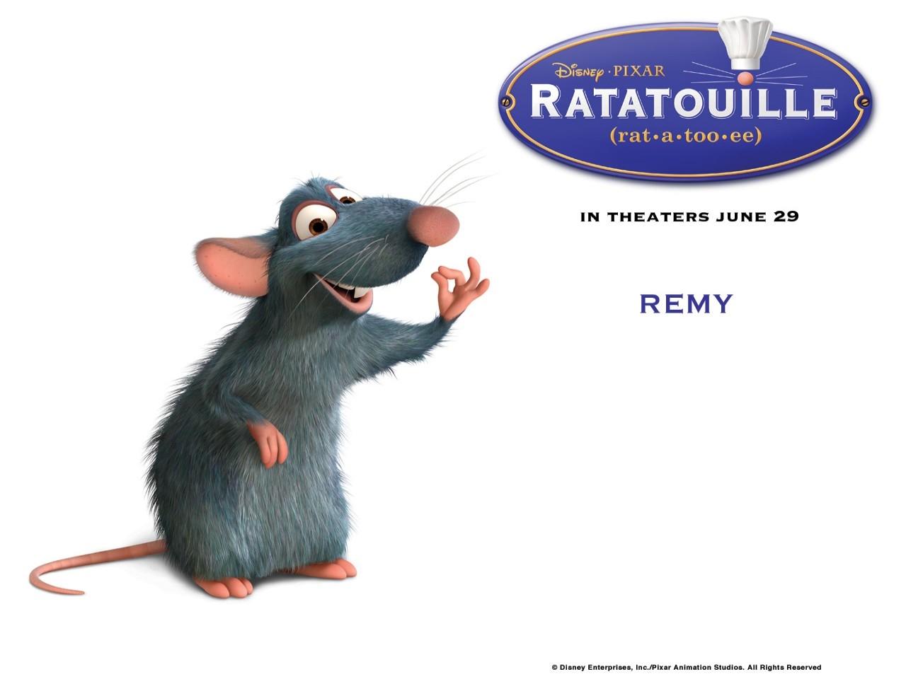 Wallpaper del film Ratatouille con il topolino Remy