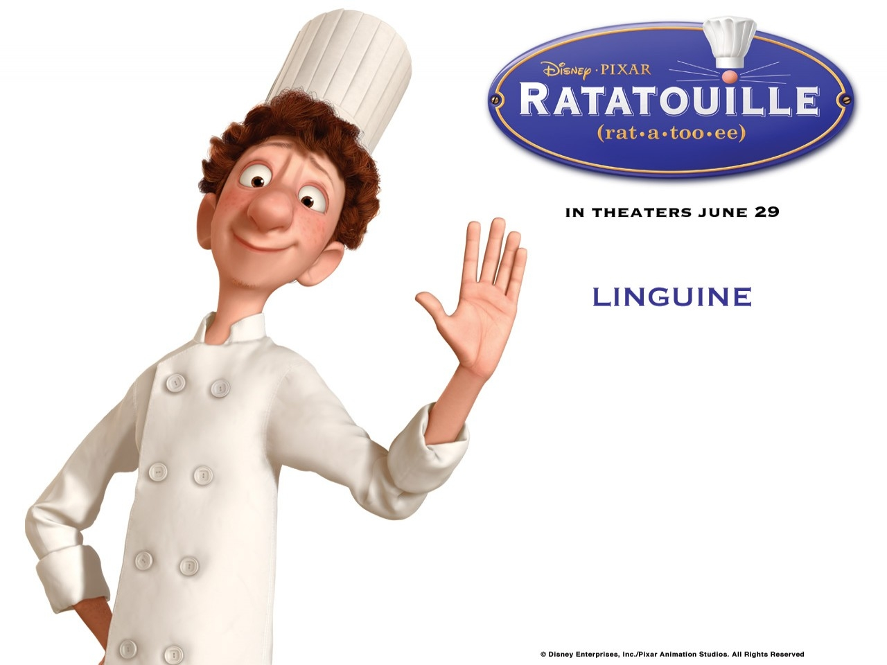 Wallpaper del film Ratatouille con Alfredo Linguini