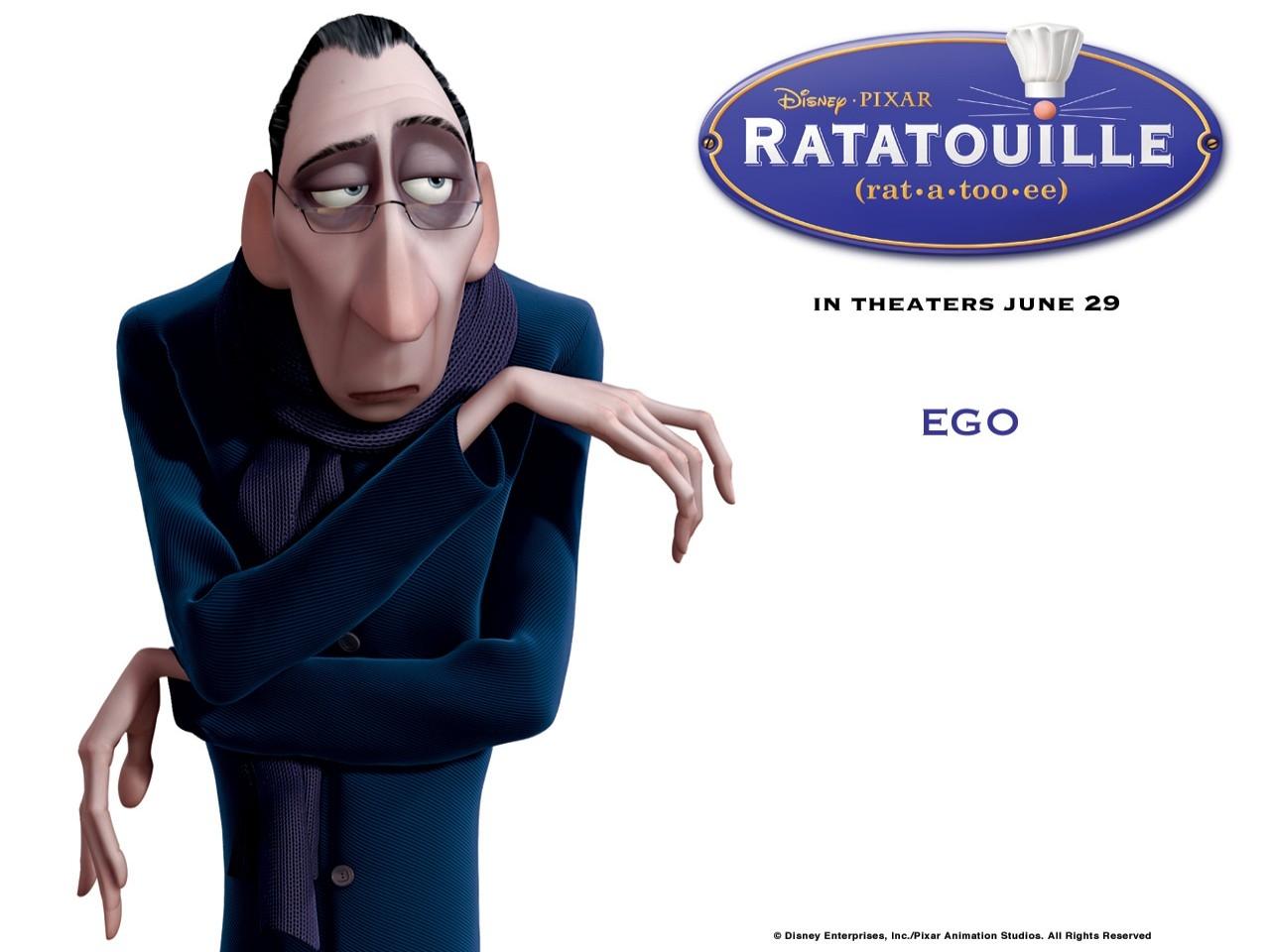 Wallpaper del film Ratatouille con il critico culinario Anton Ego