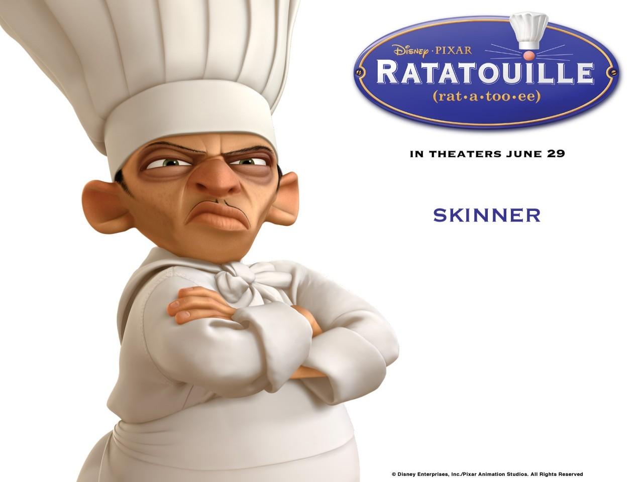 Wallpaper del film Ratatouille con Skinner