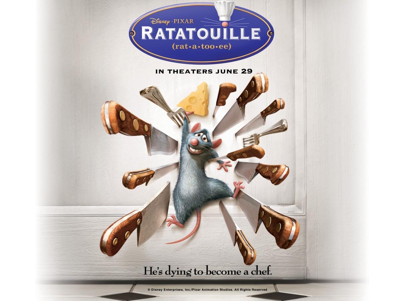 Wallpaper del film Ratatouille con il protagonista