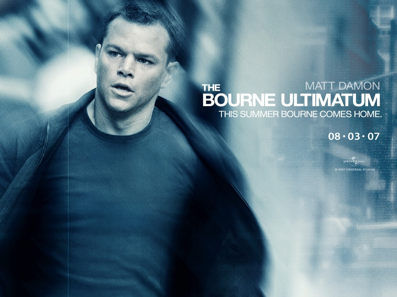 Wallpaper del thriller The Bourne Ultimatum