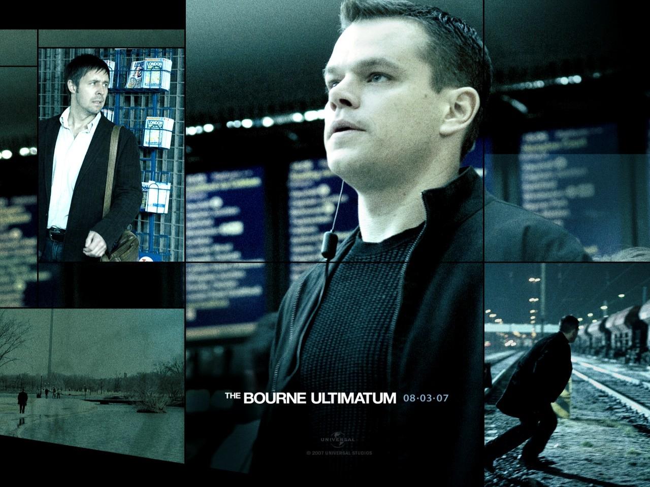 Damon in un wallpaper del film The Bourne Ultimatum - il ritorno dello sciacallo