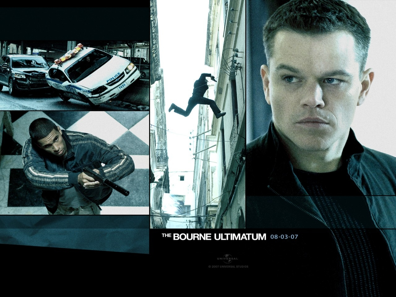 Matt Damon in un wallpaper del film The Bourne Ultimatum - il ritorno dello sciacallo